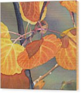 Mountain Gold Wood Print