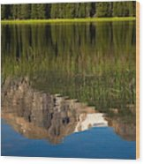 Mountain Reflection In Beirstadt Lake Wood Print