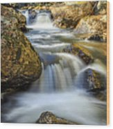 Mountain Stream Waterfall  Wood Print