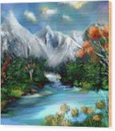 Mountains Majesty Wood Print