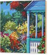Mr Bodden's Garden Wood Print
