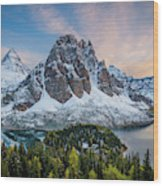Mt Assinniboine Sunset Wood Print