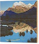 Mt Rundle Wood Print