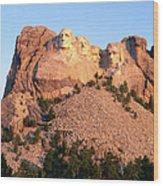 Mt Rushmore Memorial Carvings Wood Print
