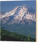 Mt Shasta Across Lake Siskiyou, Mt Wood Print