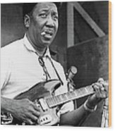 Muddy Waters Live At The Ann Arbor Wood Print