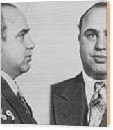 Mugshot Of Gangster Al Capone Wood Print