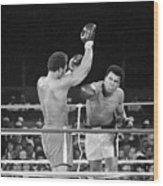 Muhammad Ali Punching George Foreman Wood Print