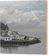 Mukilteo Lighthouse On Puget Sound Wood Print