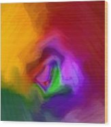 Multiple Colored Abstract By Delynn Addams Wood Print