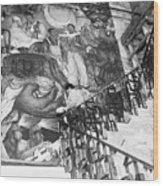 Mural By Artist Diego Rivera Wood Print