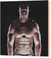 Muscular Man Wood Print