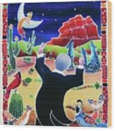 Music Of The Desert Night Wood Print