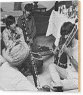 Musician George Harrison Receiving Wood Print