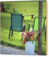 Muzeical Chairz Wood Print