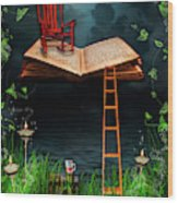My Book Said Come Fly With Me Wood Print
