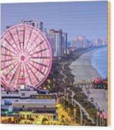 Myrtle Beach South Carolina Usa City Wood Print