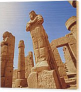 Mysterious Ancient Temple Ruins In Egypt Wood Print