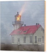 Mystical Point Cabrillo Lighthouse California Wood Print