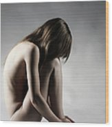 Naked Woman Wood Print