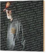 Names Of War Dead Read At Vietnam Wood Print
