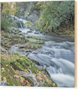 Nantahala Fall Flow Wood Print