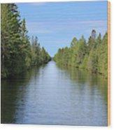Narrow Cut On The Trent Severn Waterway Wood Print