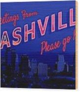 Nashville Postcard Wood Print