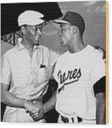 Nat King Cole And Minnie Minoso Wood Print