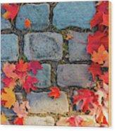 Natural Autumn Leaf Background  Wood Print