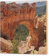 Natural Bridge - Bryce Canyon - Utah Wood Print