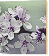 Naturalness And Flowers 33 Wood Print