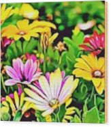 Naturalness And Flowers 35 Wood Print