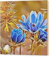 Naturalness And Flowers 47 Wood Print