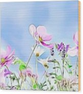 Naturalness And Flowers 59 Wood Print