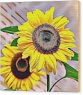 Naturalness And Flowers 60 Wood Print