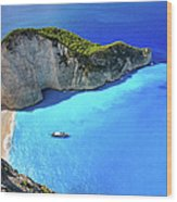 Navagio Beach, Zakynthos Island, Greece Wood Print