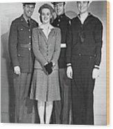 Navy, Marine, Army Officers Wood Print