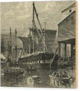Navy Yard Wood Print