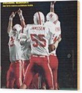 Nebraska Bob Terrio, 1972 Orange Bowl Sports Illustrated Cover Wood Print
