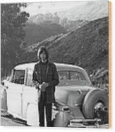 Neil Young And His Classic Car Wood Print