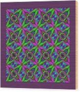 Neon Diamond Pattern Wood Print