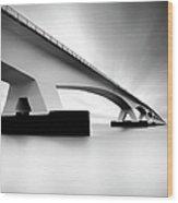 Netherlands, Zeeland, Zeelandbridge Wood Print