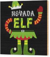 Nevada Elf Xmas Elf Santa Helper Christmas Wood Print