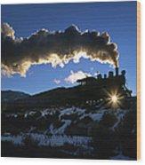 Nevada Sunrise Wood Print