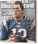 New England Patriots Qb Tom Brady, 2005 Sportsman Of The Sports Illustrated Cover Wood Print