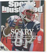 New England Patriots Randy Moss Sports Illustrated Cover Wood Print