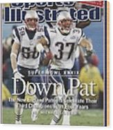 New England Patriots Rodney Harrison And Mike Vrabel, Super Sports Illustrated Cover Wood Print