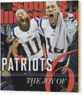 New England Patriots, Super Bowl Liii Champions Sports Illustrated Cover Wood Print
