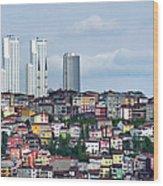 New Istanbul Wood Print